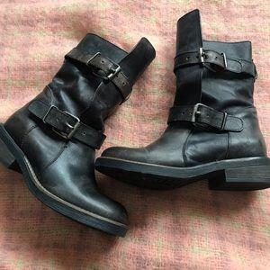 Steve Madden black leather banddit boot 7.5